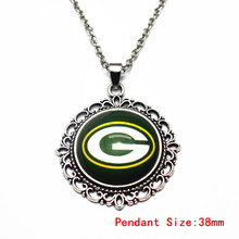 New Style 1pcs/lot Green Bay Packers Pendant Vintage Necklace With 50cm Chains Necklace For Women Sports Necklace DIY Jewelry(China)