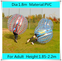 1.8m PVC Bubble Soccer Football, Loopy zorb ball for sale, inflatable human hamster ball, bumper ball Outdoor Fun & Sports