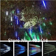 8 Tube/set 50cm LED Meteor Shower Rain Tube Christmas Lights Outdoor White Christmas Tree LED Decoration AC 220V/110V Wholesale(China)