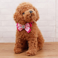 Adjustable Dog Cat Print Pet Tie With Puppy Kitten Necktie Collar HOT pink high quality new designed hot selling dog cat collar