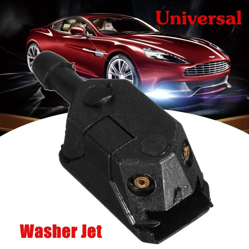 1X Universal Car Arm Windscreen Washer Wiper Blade Water Spray Jets Nozzle Black(China)