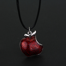 Hot Sell Once Upon A Time Snow White Regina Crystal Red Poison Apple Pendant Necklace Gift For Men and Women(China)