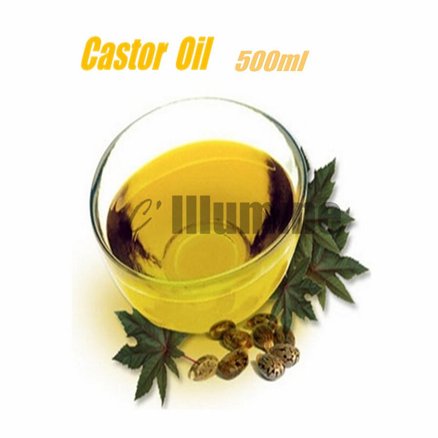 Natural Castor Base Oil Food Grade Massage Spa Pedicure  Soap Raw Material Skin Hair Care Beauty Salon 500ml<br>