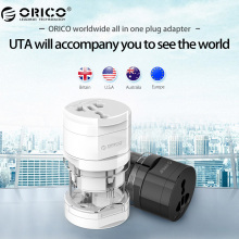 ORICO UTA Electrical Universal Adapter Plug Travel Power Socket Converter Outlet All in One Worldwide Use US/UK/EU/AU For Travel(China)