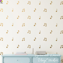 5 Style Music Notes Wall Sticker Baby Nursery Children Room Music Note Wall Decal Bedroom Living Room Vinyl Home Decoration Art