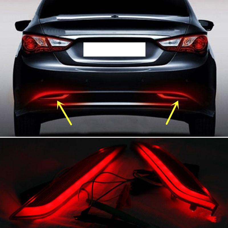 Cover Trim Plated F+R Fog Chrome Fit for Hyundai Sonata i45 YF 2011-2014 Lamp