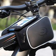 Cycling Bicycle Bike Top Frame Front Pannier Tube Bag Double Pouch Holder Mountain Touch Screen Bicycle  Accessories