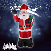 2017 New Fashion Creative 2.4m Inflatable Santa Claus Christmas Decorations Cute Christmas Doll Home & Garden Decoratio