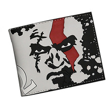 Game GOD OF WAR Cosplay Wallets Bifold Short Leather Money cartera mens wallet women coin purses holders purse