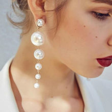 Statement Multiple Pearls Long stud Earrings Jewelry Vintage Gorgeous  Wedding Chandelier Earrings for Women Best Gifts 406bfe2c3e68