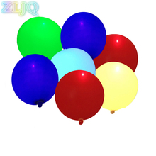 ZLJQ 10pcs LED Balloons 12 Inches Latex Multicolor Lights Luminous Balloon Christmas Decor Wedding Birthday Party Supplies 7D(China)