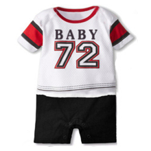 short Sleeve Baby Biker Costume Bodysuit Black One-Piece Shirt Infant Cotton Jumpsuit Funny Baby Boys Clothes