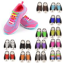16Pc/Set Unisex Women Men Athletic Shoes Lazy No Tie Shoelaces Elastic Silicone Shoe Laces Shoestrings All Sneakers Fit Strap