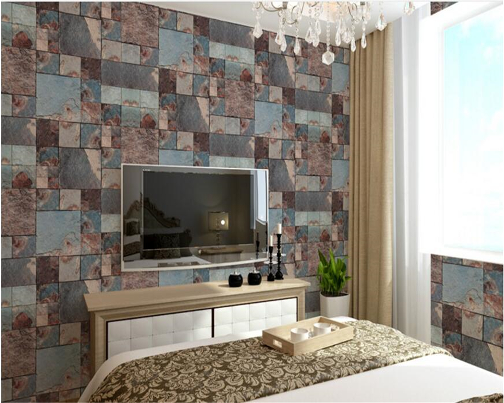 beibehang Chinese classical brick 3d wallpaper mottled retro wash clean PVC living room background wall paper papel de parede <br>
