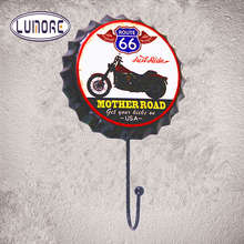 Mother Road Route 66 Metal Tin Signs Metal Hook Historic Road Gas Car Garage Home Decor Craft Wall Poster
