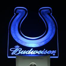ws0150 Indianapolis Colts Budweiser Day/ Night Sensor Led Night Light Sign(China)