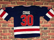 Ice Hockey 1980 Miracle On Ice Team USA Jim Craig 30 Hockey Jersey blue All stitched