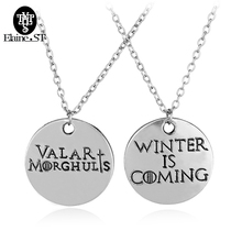 Game of Thrones Highgrade pendant Lovers valentine's day gift Winter coming Punk best friend forever Jewelry Long Necklace