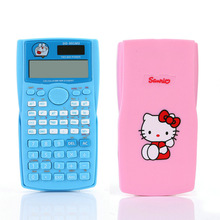 Hello Kitty & Doraemon Function Calculator Schoffice 10+2 Digital Display 2-Line LCD Scientific  Calculator