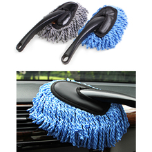 Promotion! 1 Pieces Multi-functional Car Duster Cleaning Dirt Dust Clean care Brushes Dusting Tool Mop  Dust Clean Brush 2 color