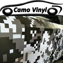 Car Styling Black White Digital Camo Vinyl Wrapping Pixel Camouflage Car Wrap Vinyl Sticker Film Car Body Covers Air Bubble Free