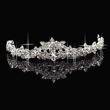 Hot Sale Women Wedding Elegant Bridal Prom Crystal Butterfly Flower Crown Headband Veil Tiara Headpiece Trendy Fashion