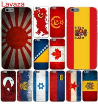 Lavaza Russian Spain flag Pakistan Canada Israel Hard Case for iphone 4 4s 5c 5s 5 SE 6 6s 6/7/8 plus X for iphone 7 case(China)