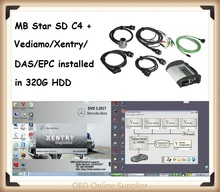 2017 Super MB Star C4 SD Connect C4 with Latest Xentry DAS Vediamo Diagnosis System support offline coding&SCN Online coding