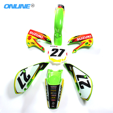 KLX110 Plastics Body Kits + 3m graphics Decals Sticker Kit for KX65 KLX110 KX 65 KLX 110 MOTORCYCLE dirt bike/pit bike USE