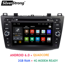 Free Shipping Quad Core Android 6.0 2GB DDR3 Car DVD For Mazda3 2008-2013 Car Multimedia Mazda 3 Bluetooth 4.0 WIFI dual band