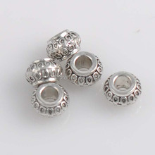 50Pcs 8.5x5.5mm Antique Silver Alloy Spacer Beads Round Beads Alloy Tube Spacers Jewelry Making Supplies YTC0020(China)