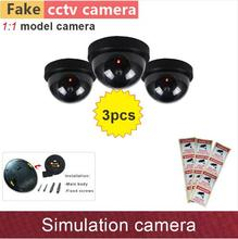 Big discount Fake dome camera simulation dummy cameras security cam with flash blinking warning LED lamp