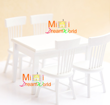 Cute MINI Dollhouse Miniature Furniture accessories dollhouse Tables and chairs