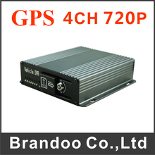 Inexpensive GPS Car DVR Mobile DVR 4CH 720P Vehicle DVR For Car Bus Taxi(China)