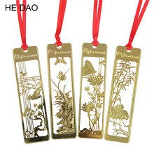 New Cute Kawaii Beautiful Chinese Style Vintage Exquisite Metal Bookmark For Book Creative Item Gift Package Free Shipping(China)