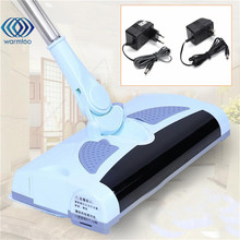Ultra Quiet Mini Home Wireless Electric Hand Push Sweeper Spinning Broom Mop Drag Household Cleaning US/EU Plug(China)