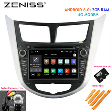 ZENISS Android6.0 2GB RAM Car DVD For Hyundai Solaris Accent Verna with 4M modem Car 2din DVD for Solaris Navigation