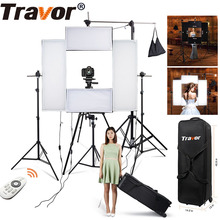 Travor 4in1 Flexible Led video light Headshot Light 100w 5500K CRI95 with 2.4G Wireless Remote control for portrait photography(China)