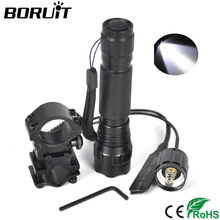 Boruit 2300Lm XML T6 White LED Flashlight Aluminum Waterproof Portable Lantern Torch Gun Light by 18650 Battery