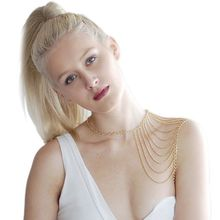 SEXY CLASSIC NEW ARRIVALS NECKLACE WOMEN FASHION CHAINS SHOULDER JEWELRY DIFFERENT STYLES SHOULDER BODY JEWELRY B00004(China)