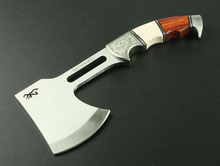 Free shipping Browning outer door survival camping axe hot sell stainless steel life saving axe(China)
