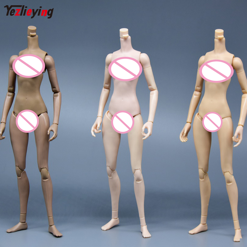 TianYiMei 1//6 Dark Color Female Middle Breast Body Model For HT Kumik Head Toy