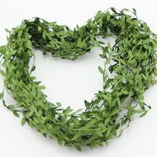 20M Artificial Vine Leaf Garland Fake Foliage Flower Wedding Home Garden Decorations