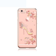 KAVARO Capa for iPhone 6s 6 7 Plus Case Swarovski Crystals Plated PC Phone Case for iPhone 7 Plus 6 Plus iPhone6 Butterfly Coque(China)