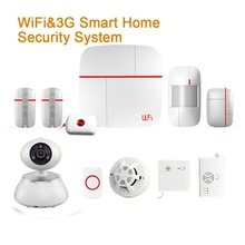 IOS/Android APP Control IP Camera WIFI+3G Home Security Alarm System