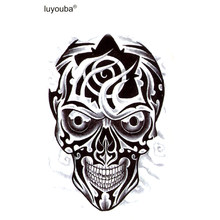 Robot mask waterproof temporary tattoos men harajuku temporary tatoo skull tatouage temporaire homme henna tattoo sleeves faux(China)