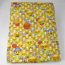50*147CM patchwork printed Emoji fabric for Tissue Kids Bedding textile for Sewing Tilda Doll, DIY handmade materials,43785(China)