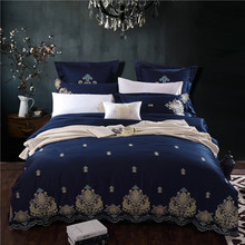 Egyptian cotton Duvet cover quilt cover set bedding sets modern Embroidery design bed sheet nordic flat sheet Solid color white