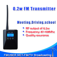 New FMUSER CZH-T200 0.2w Portable FM Transmitter radio broadcast Stereo/Mono Power adjustable For Tourism Driving School Meeting(China)