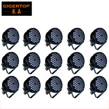TIPTOP Quality Guaranteed Best price Led Par Cans 54 3W DMX Stage Lighting LED PAR 64 Light RGBW Color Mix Free Shipping 15XLOT